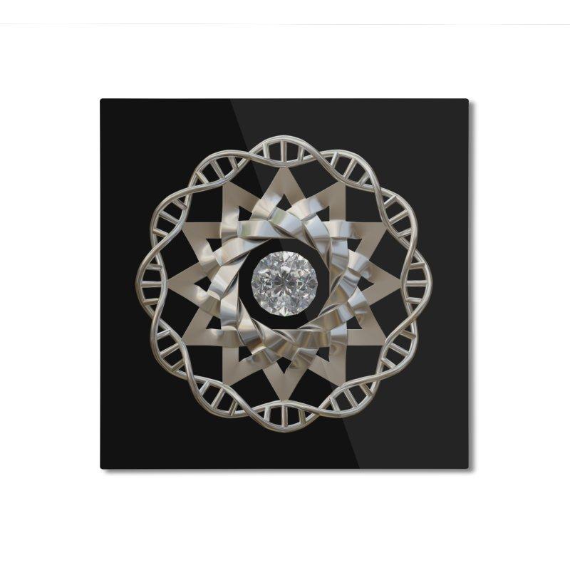 12 Strand DNA Silver Home Mounted Aluminum Print by diamondheart's Artist Shop