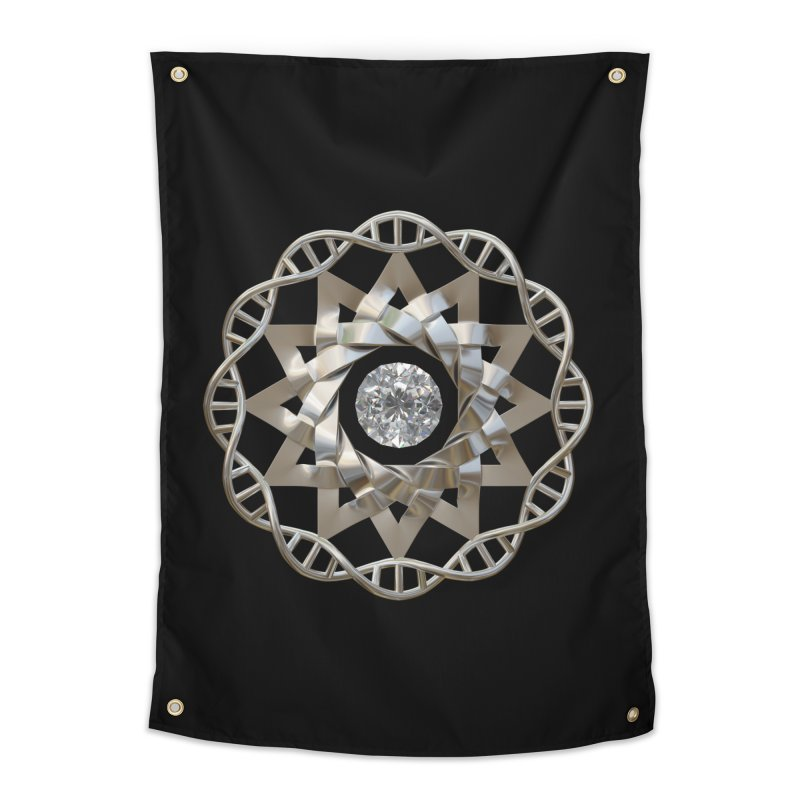 12 Strand DNA Silver Home Tapestry by diamondheart's Artist Shop