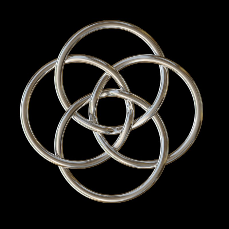 Quadruple Vesica Piscis Silver by diamondheart's Artist Shop