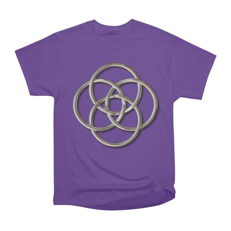 Quadruple Vesica Piscis Silver Women's Heavyweight Unisex T-Shirt by diamondheart's Artist Shop