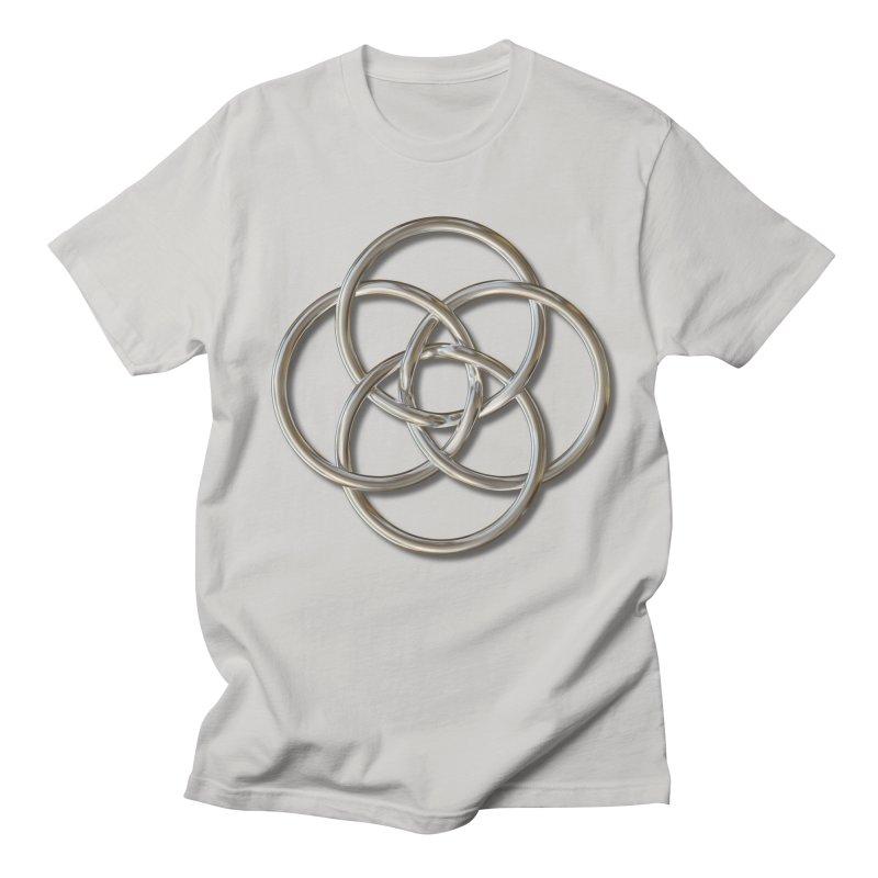 Quadruple Vesica Piscis Silver Women's Regular Unisex T-Shirt by diamondheart's Artist Shop