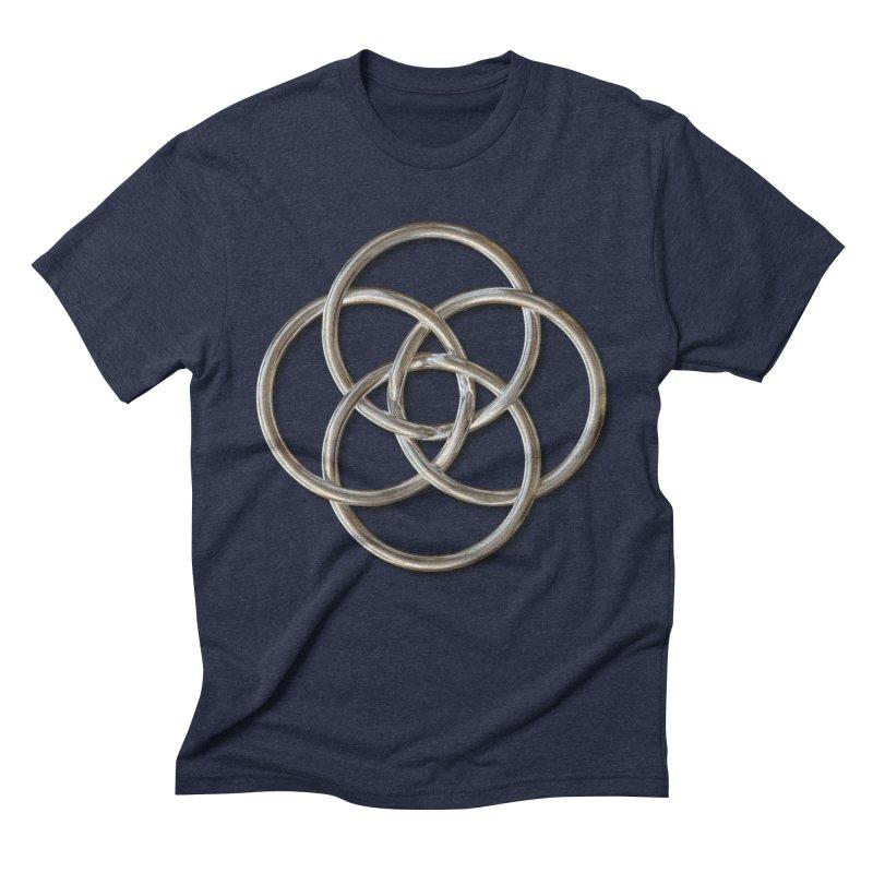 Quadruple Vesica Piscis Silver Men's Triblend T-Shirt by diamondheart's Artist Shop