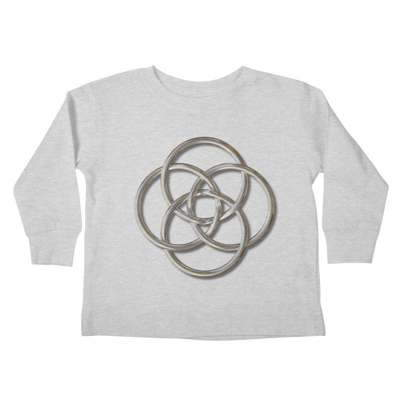 Quadruple Vesica Piscis Silver Kids Toddler Longsleeve T-Shirt by diamondheart's Artist Shop