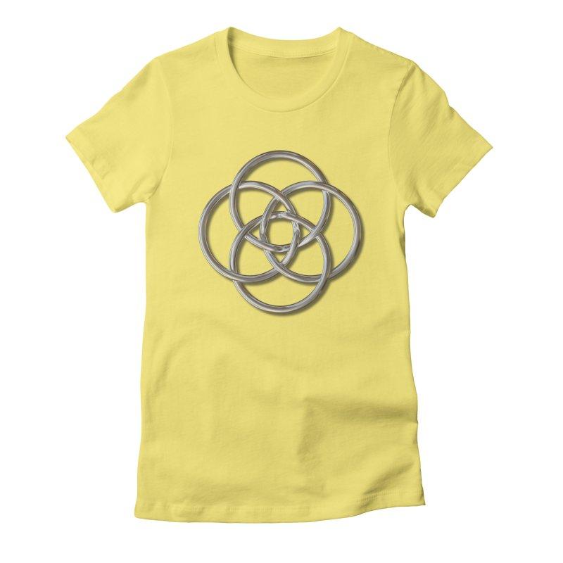 Quadruple Vesica Piscis Silver Women's Fitted T-Shirt by diamondheart's Artist Shop