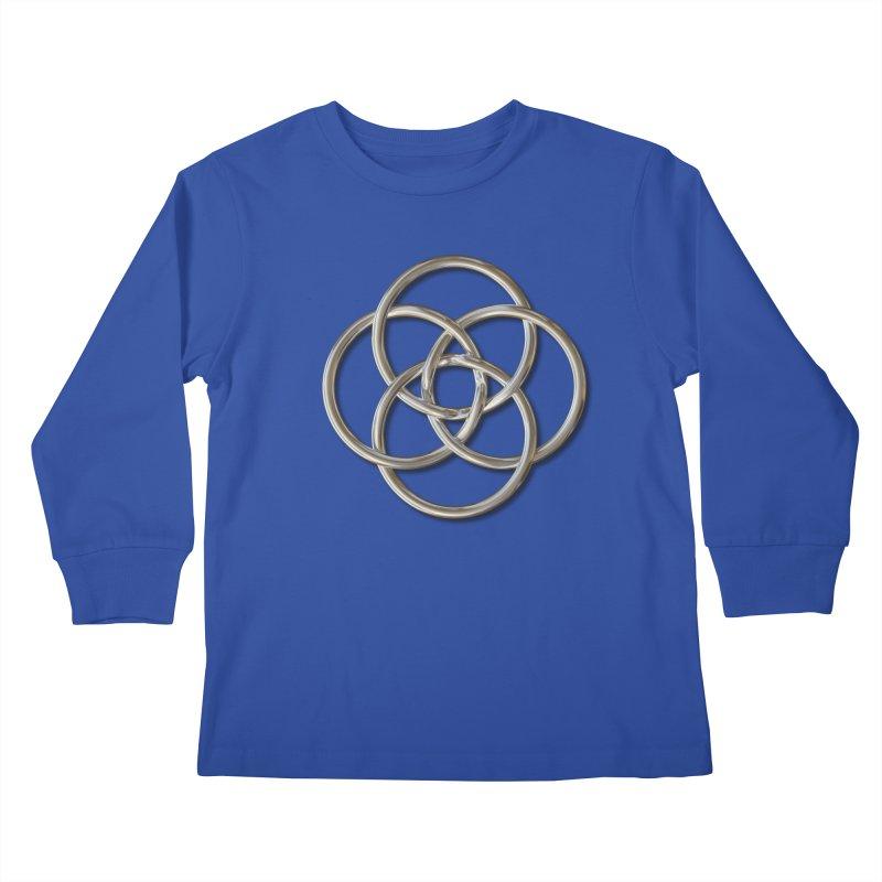 Quadruple Vesica Piscis Silver Kids Longsleeve T-Shirt by diamondheart's Artist Shop