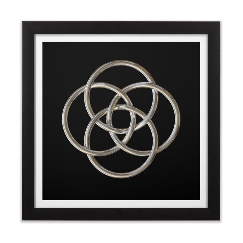Quadruple Vesica Piscis Silver Home Framed Fine Art Print by diamondheart's Artist Shop