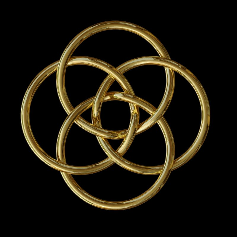 Quadruple Vesica Piscis Gold   by diamondheart's Artist Shop