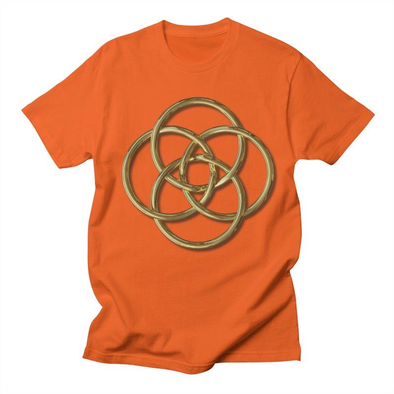 Quadruple Vesica Piscis Gold Women's Regular Unisex T-Shirt by diamondheart's Artist Shop
