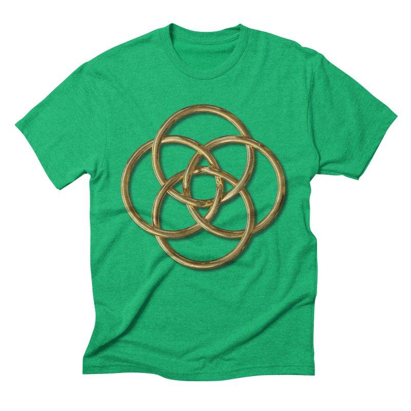 Quadruple Vesica Piscis Gold Men's Triblend T-Shirt by diamondheart's Artist Shop