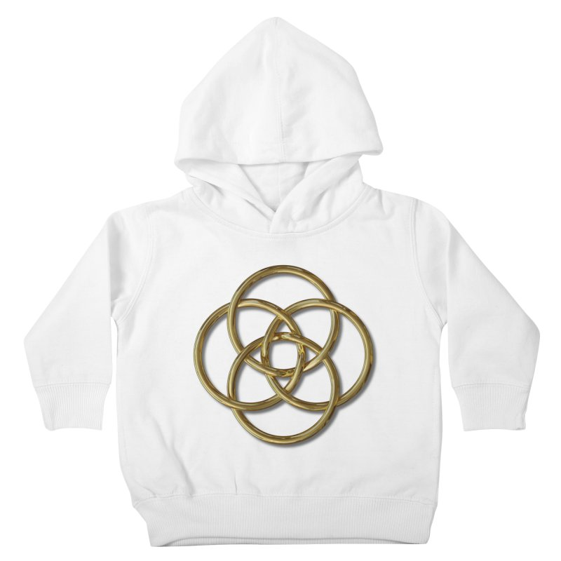 Quadruple Vesica Piscis Gold Kids Toddler Pullover Hoody by diamondheart's Artist Shop