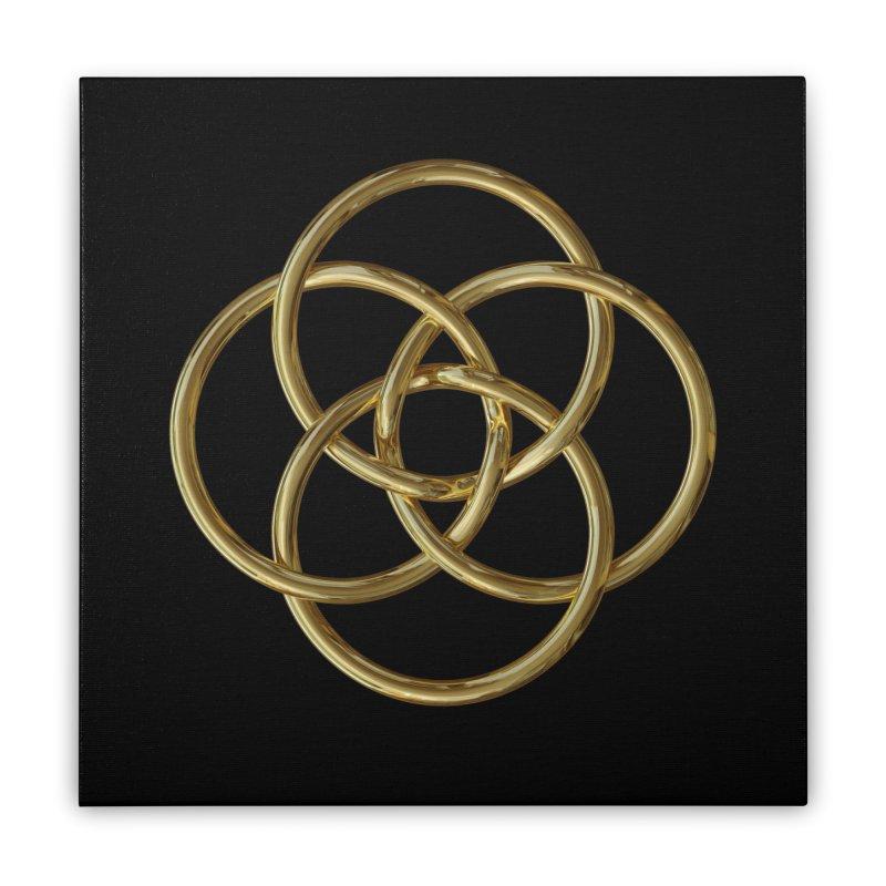 Quadruple Vesica Piscis Gold Home Stretched Canvas by diamondheart's Artist Shop