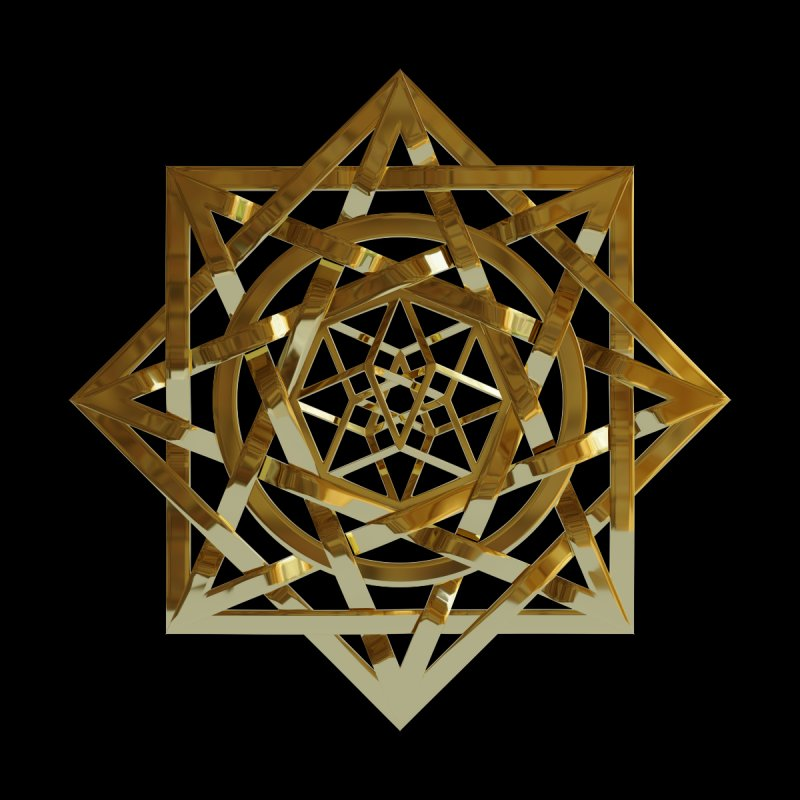 8:8 Tesseract Stargate Gold by diamondheart's Artist Shop