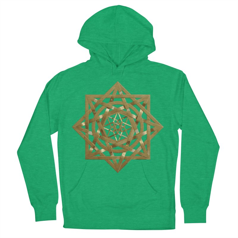 8:8 Tesseract Stargate Gold Women's French Terry Pullover Hoody by diamondheart's Artist Shop