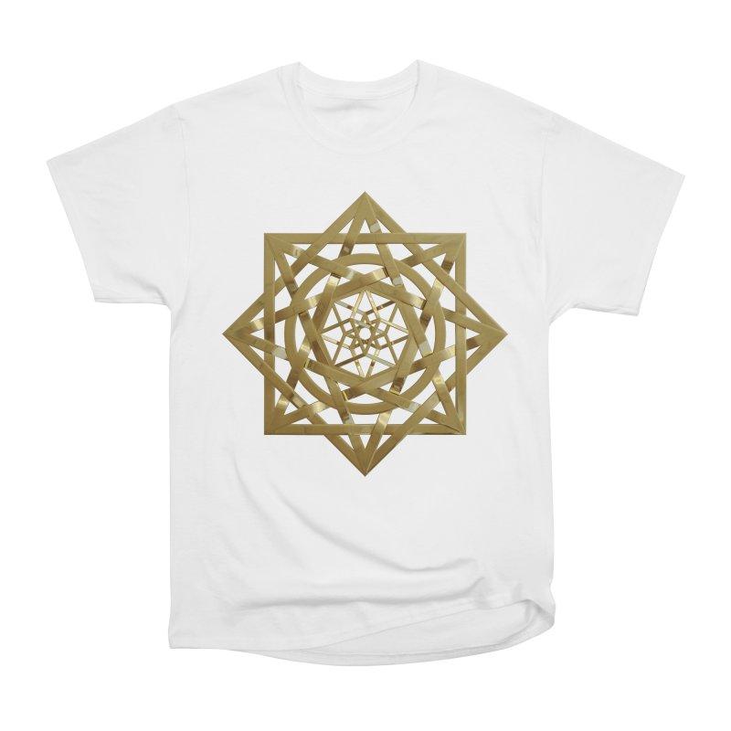 8:8 Tesseract Stargate Gold Men's Heavyweight T-Shirt by diamondheart's Artist Shop