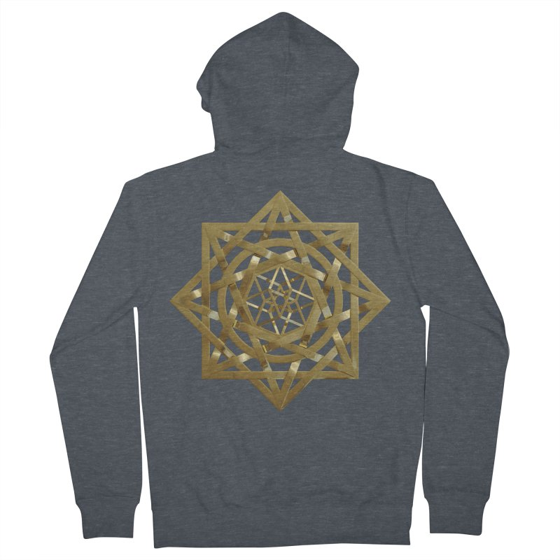 8:8 Tesseract Stargate Gold Women's French Terry Zip-Up Hoody by diamondheart's Artist Shop