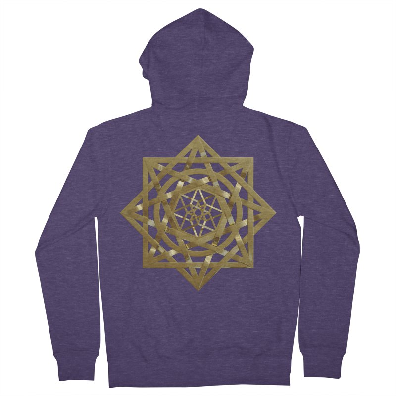 8:8 Tesseract Stargate Gold Men's French Terry Zip-Up Hoody by diamondheart's Artist Shop