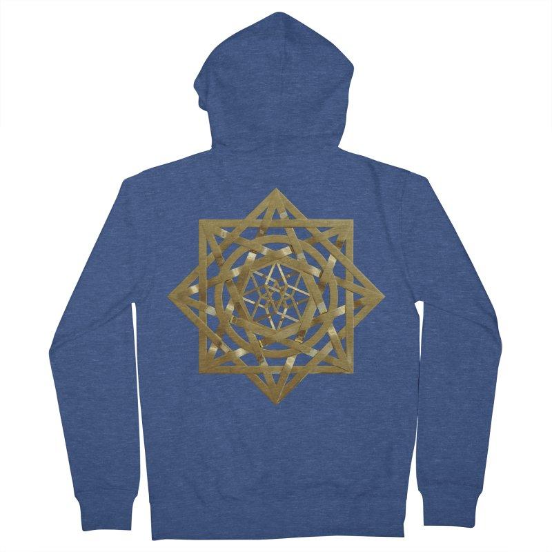 8:8 Tesseract Stargate Gold Men's French Terry Zip-Up Hoody by diamondheart's Artist Shop