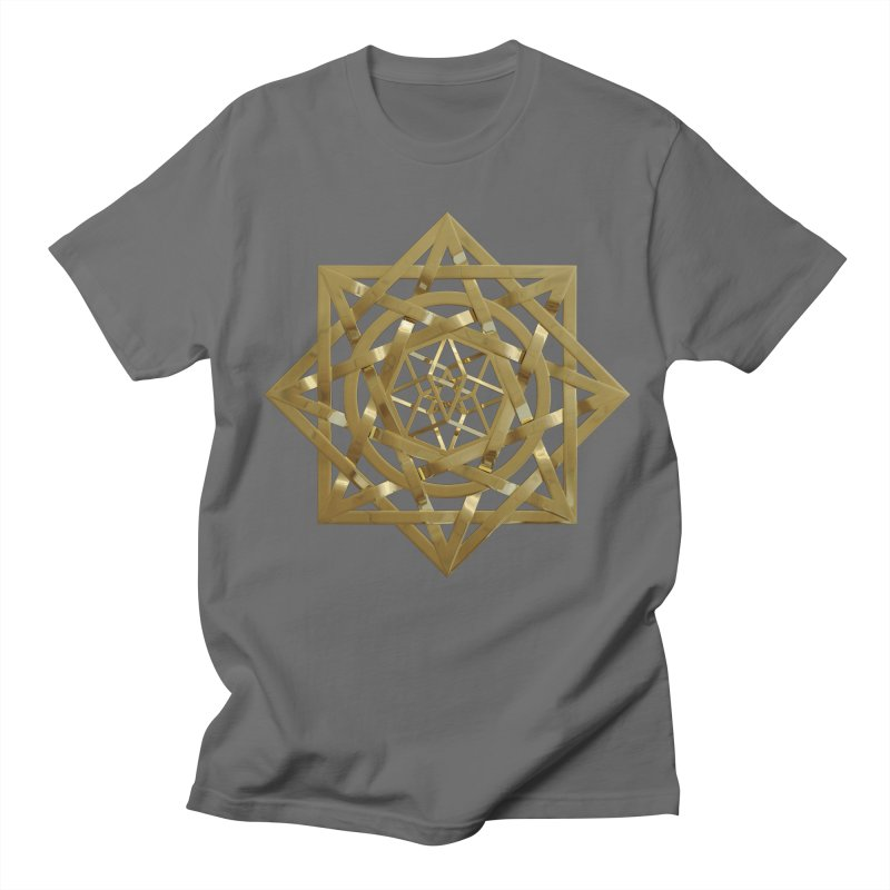 8:8 Tesseract Stargate Gold Women's Regular Unisex T-Shirt by diamondheart's Artist Shop