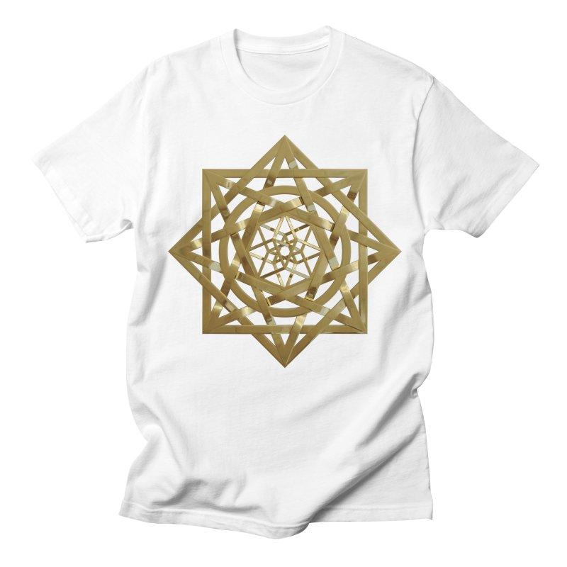 8:8 Tesseract Stargate Gold Men's Regular T-Shirt by diamondheart's Artist Shop