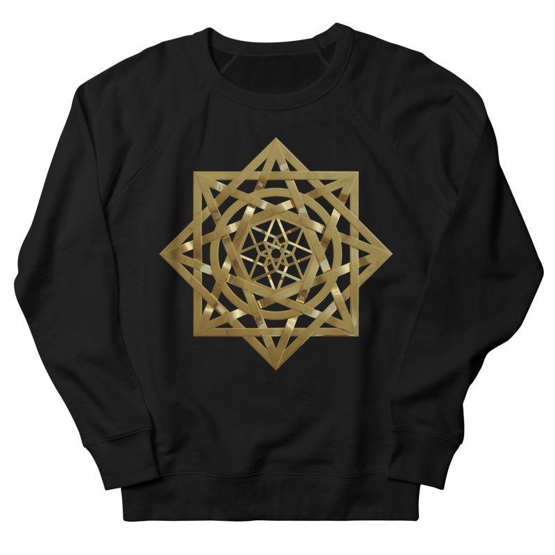 8:8 Tesseract Stargate Gold Women's French Terry Sweatshirt by diamondheart's Artist Shop