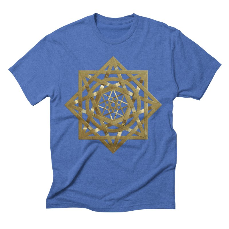 8:8 Tesseract Stargate Gold Men's Triblend T-Shirt by diamondheart's Artist Shop