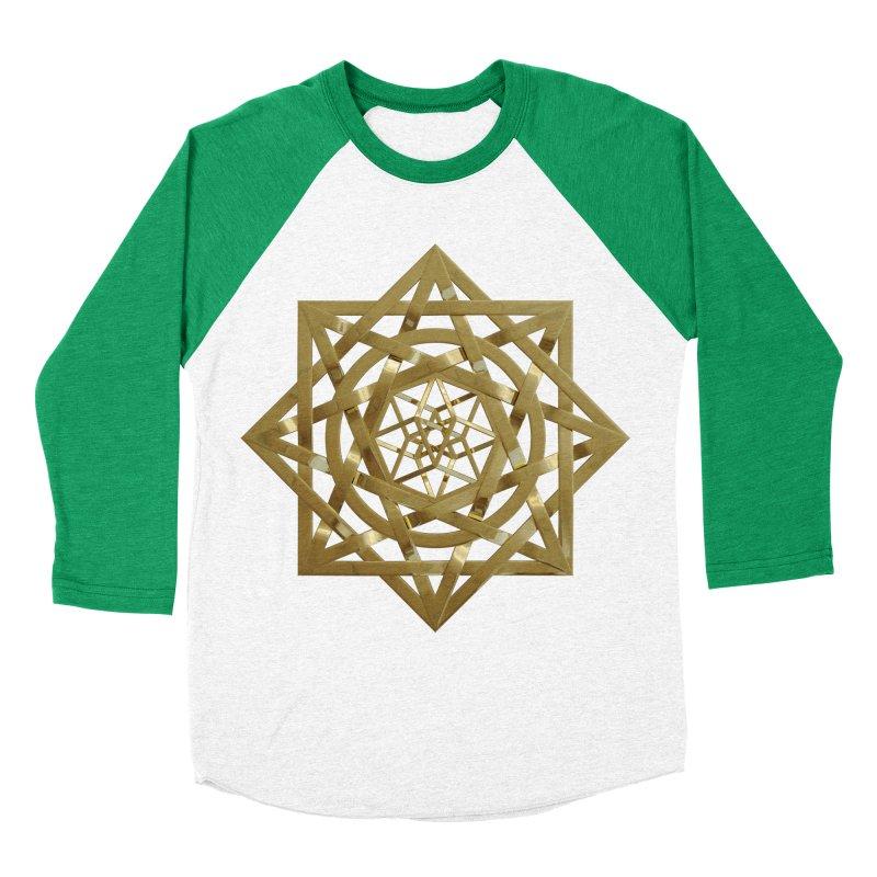 8:8 Tesseract Stargate Gold Women's Baseball Triblend Longsleeve T-Shirt by diamondheart's Artist Shop