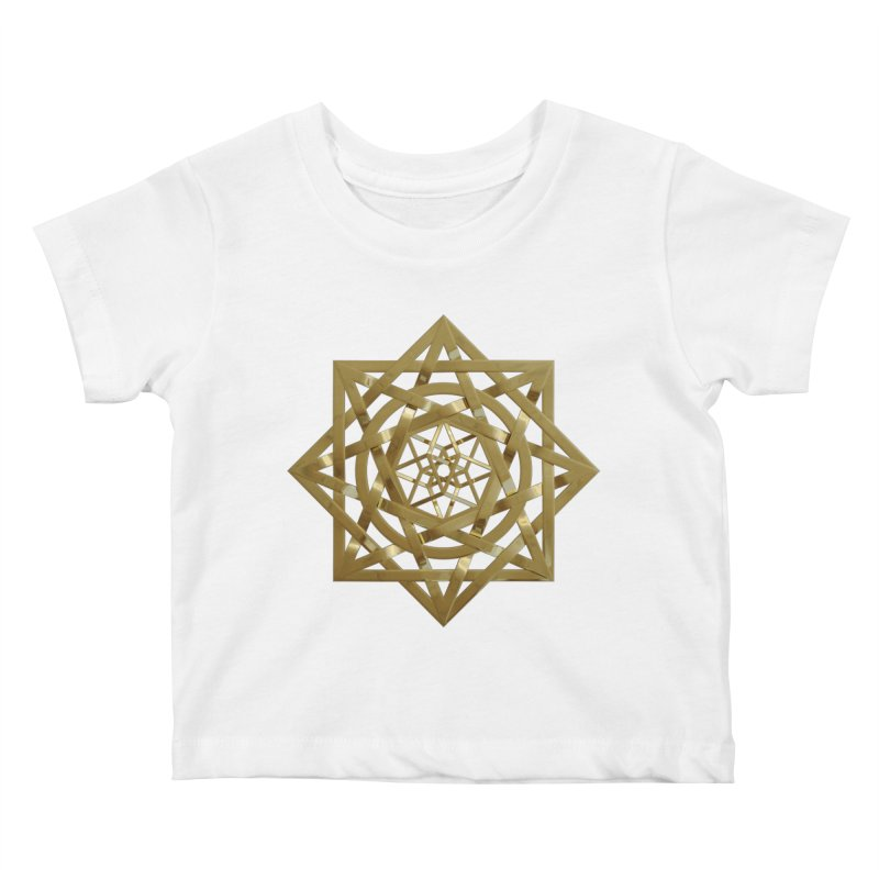 8:8 Tesseract Stargate Gold Kids Baby T-Shirt by diamondheart's Artist Shop