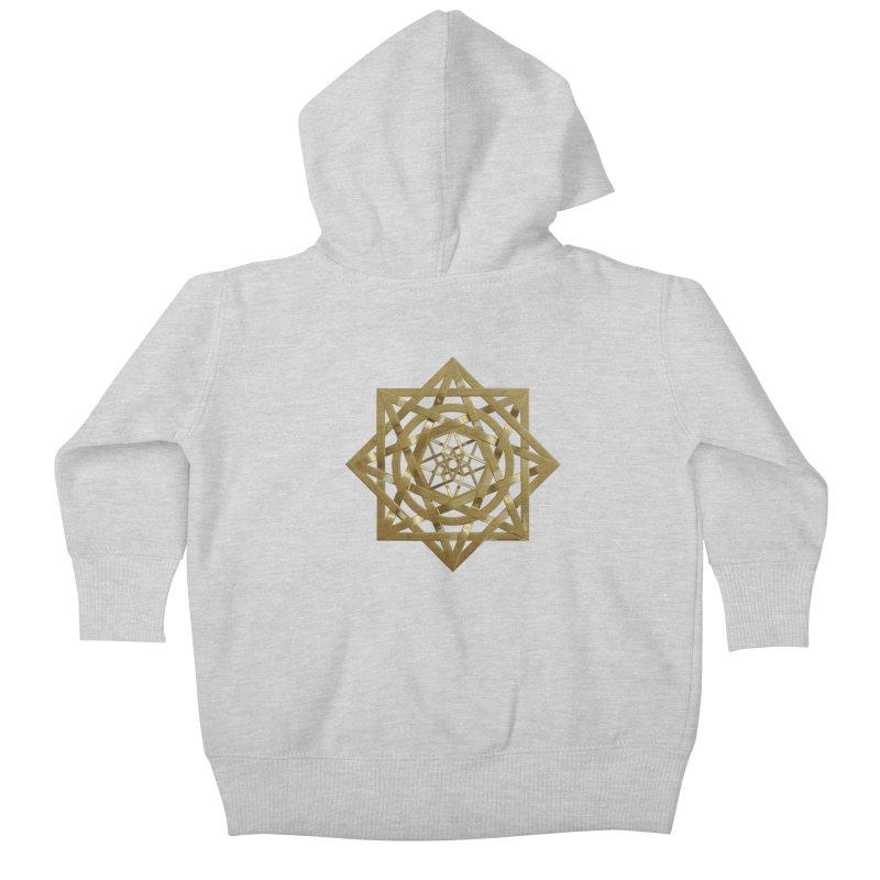 8:8 Tesseract Stargate Gold Kids Baby Zip-Up Hoody by diamondheart's Artist Shop
