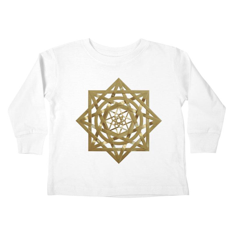 8:8 Tesseract Stargate Gold Kids Toddler Longsleeve T-Shirt by diamondheart's Artist Shop