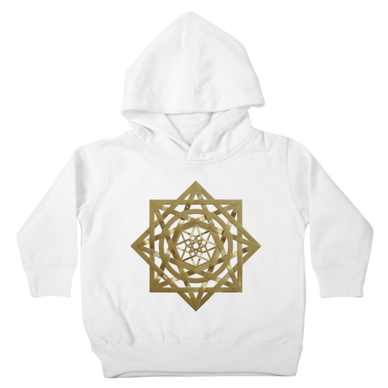 8:8 Tesseract Stargate Gold Kids Toddler Pullover Hoody by diamondheart's Artist Shop