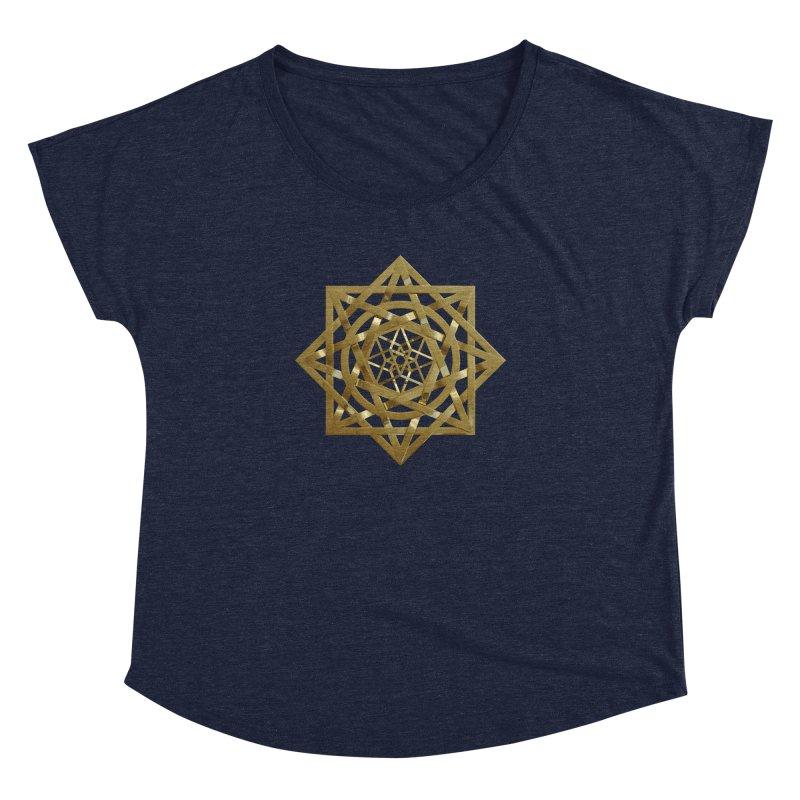 8:8 Tesseract Stargate Gold Women's Dolman Scoop Neck by diamondheart's Artist Shop