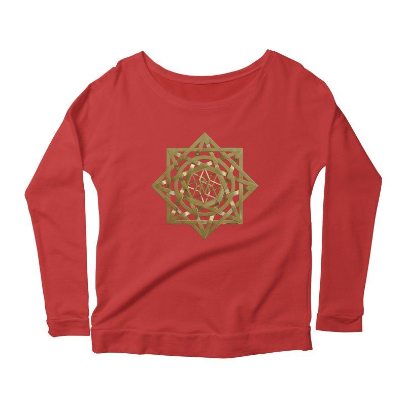8:8 Tesseract Stargate Gold Women's Scoop Neck Longsleeve T-Shirt by diamondheart's Artist Shop