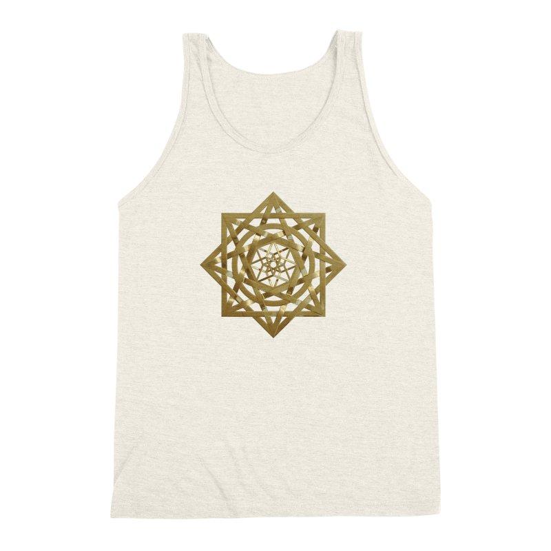 8:8 Tesseract Stargate Gold Men's Triblend Tank by diamondheart's Artist Shop