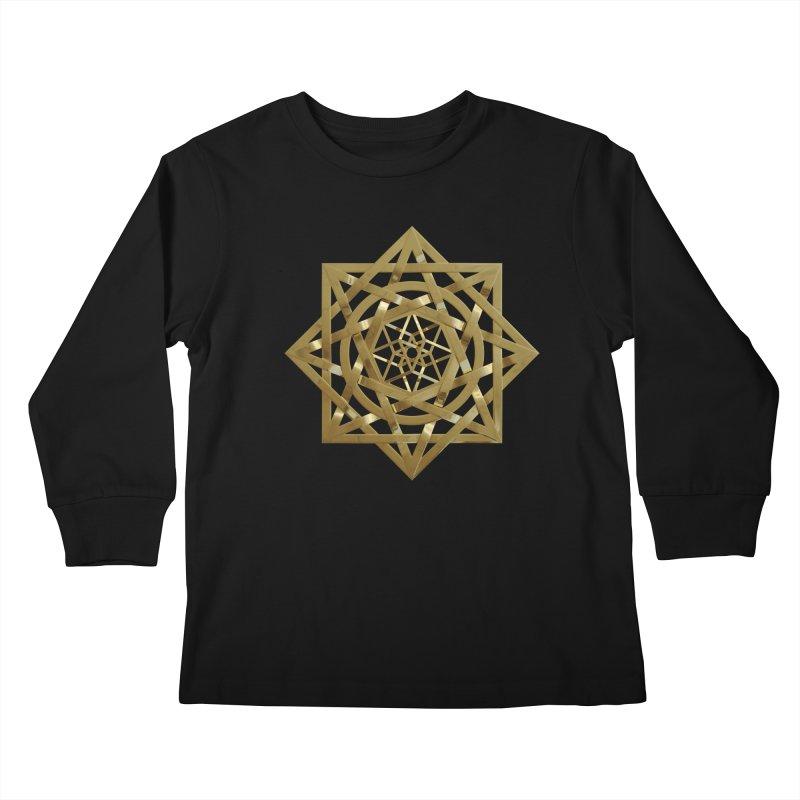 8:8 Tesseract Stargate Gold Kids Longsleeve T-Shirt by diamondheart's Artist Shop