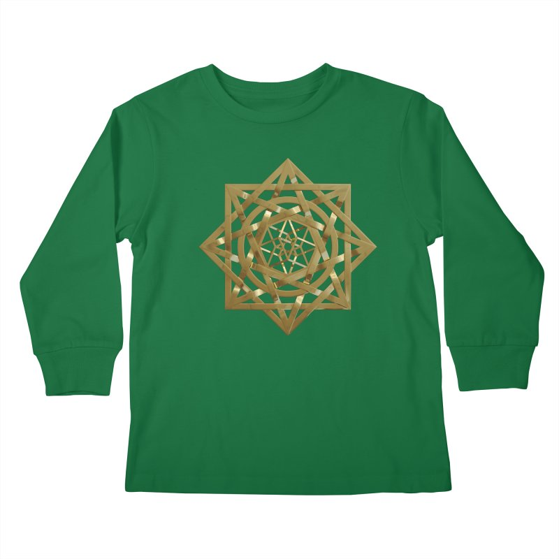 8:8 Tesseract Stargate Gold Kids Longsleeve T-Shirt by diamondheart's Artist Shop