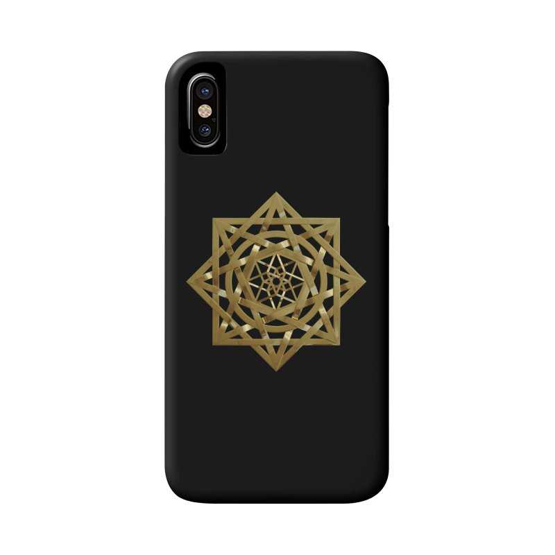 8:8 Tesseract Stargate Gold Accessories Phone Case by diamondheart's Artist Shop