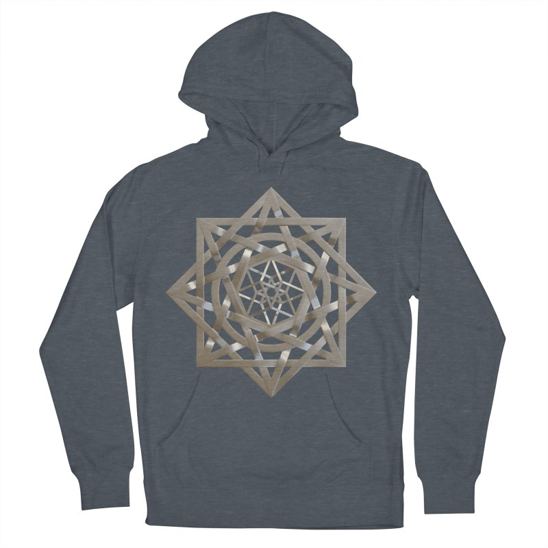 8:8 Tesseract Stargate Silver Women's French Terry Pullover Hoody by diamondheart's Artist Shop