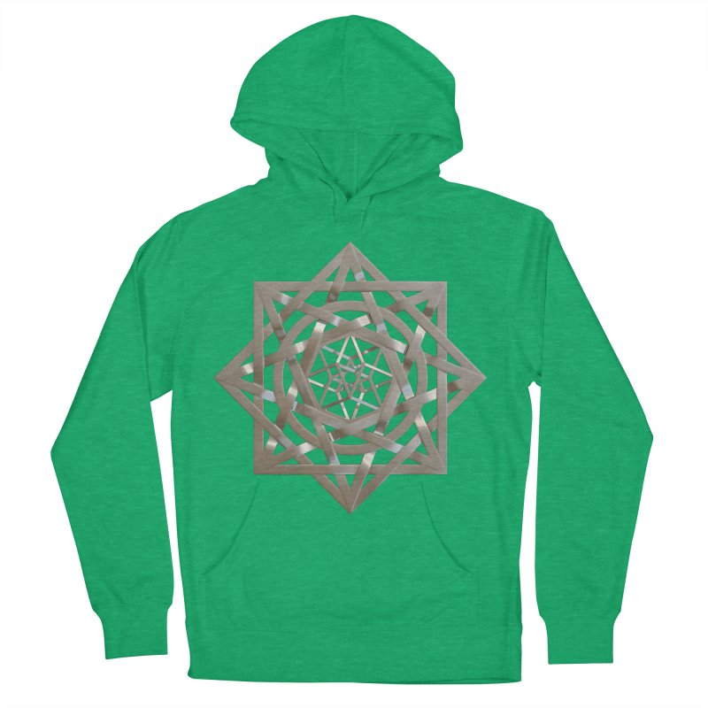 8:8 Tesseract Stargate Silver Men's French Terry Pullover Hoody by diamondheart's Artist Shop