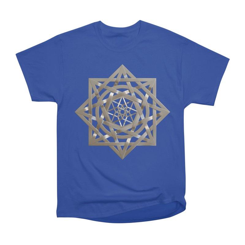 8:8 Tesseract Stargate Silver Men's Heavyweight T-Shirt by diamondheart's Artist Shop