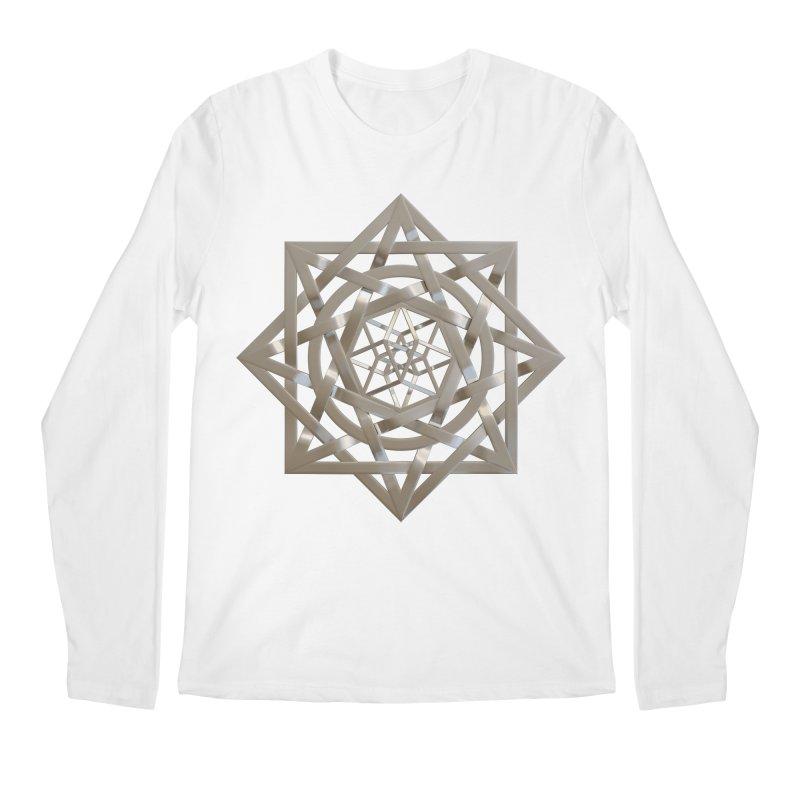 8:8 Tesseract Stargate Silver Men's Regular Longsleeve T-Shirt by diamondheart's Artist Shop