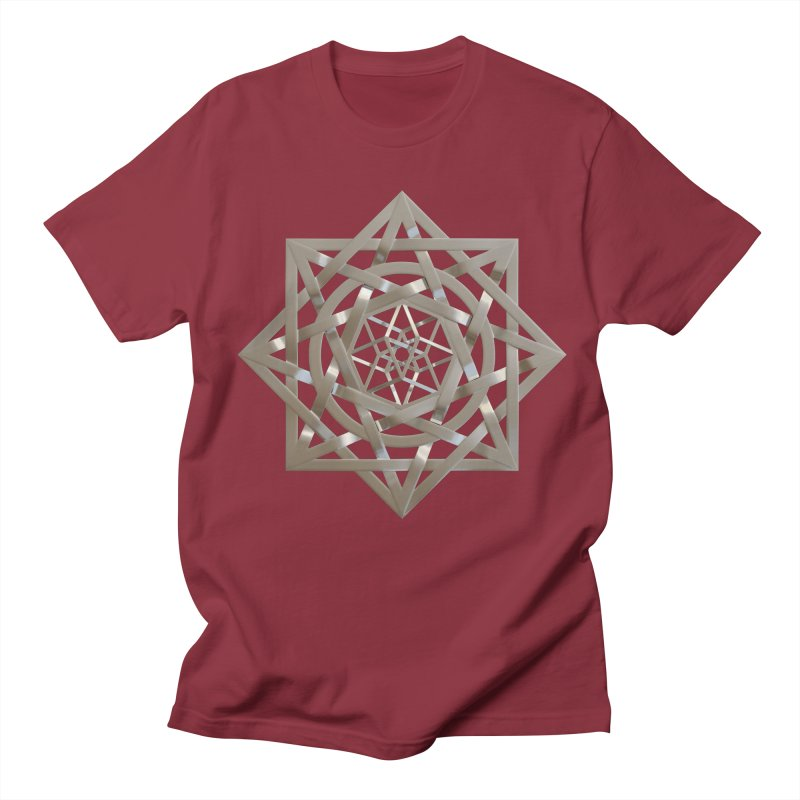 8:8 Tesseract Stargate Silver Women's Regular Unisex T-Shirt by diamondheart's Artist Shop