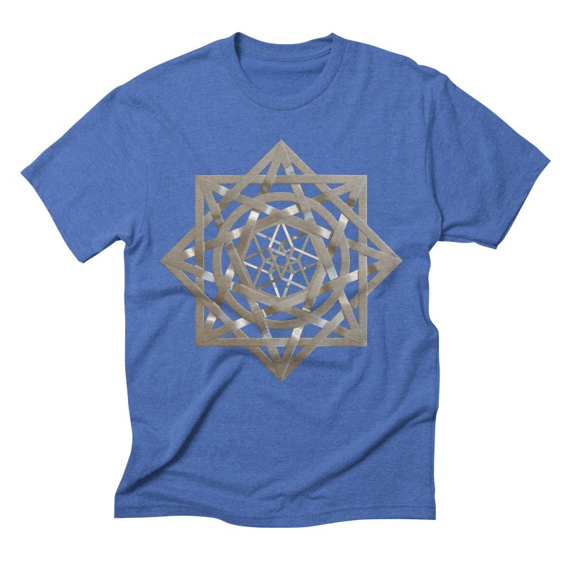 8:8 Tesseract Stargate Silver Men's Triblend T-Shirt by diamondheart's Artist Shop