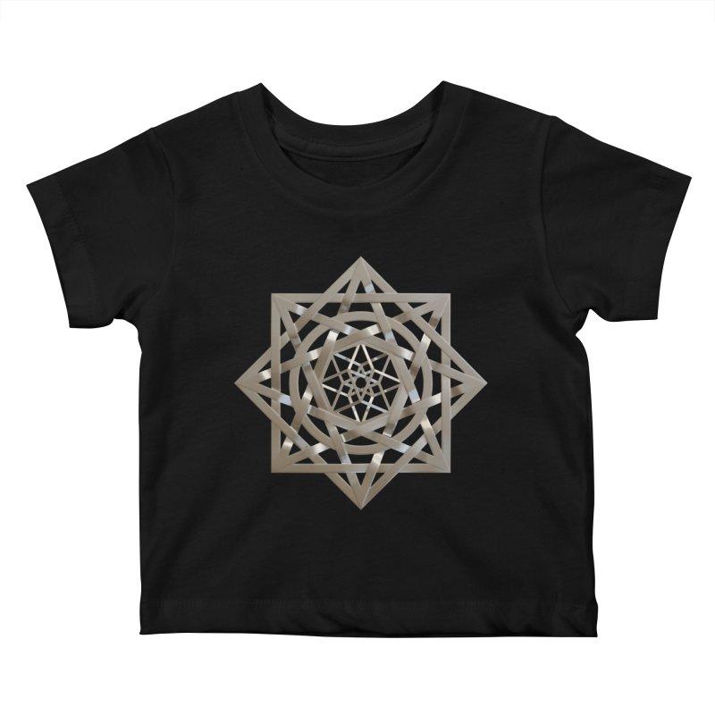 8:8 Tesseract Stargate Silver Kids Baby T-Shirt by diamondheart's Artist Shop