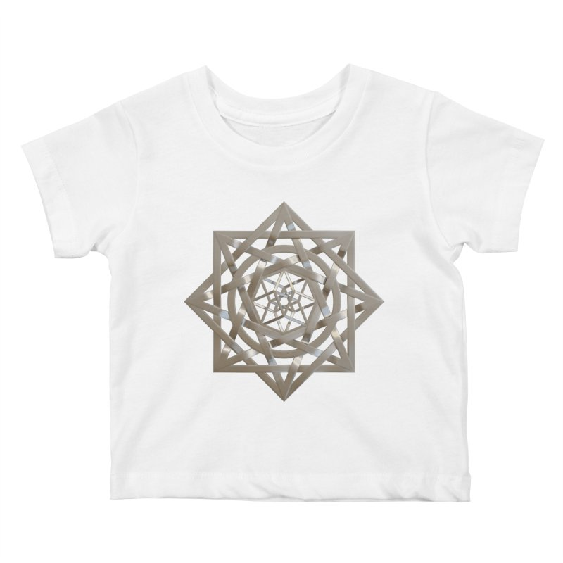 8:8 Tesseract Stargate Silver Kids Baby T-Shirt by diamondheart's Artist Shop