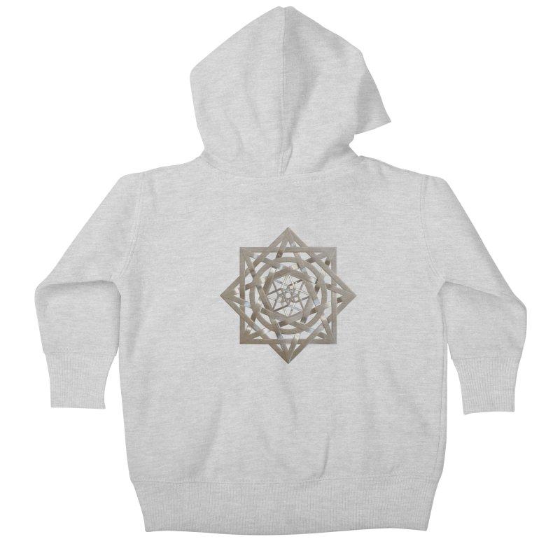 8:8 Tesseract Stargate Silver Kids Baby Zip-Up Hoody by diamondheart's Artist Shop