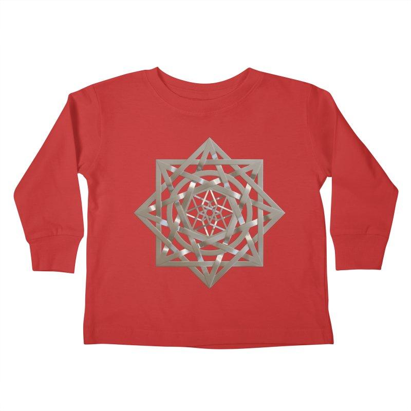 8:8 Tesseract Stargate Silver Kids Toddler Longsleeve T-Shirt by diamondheart's Artist Shop