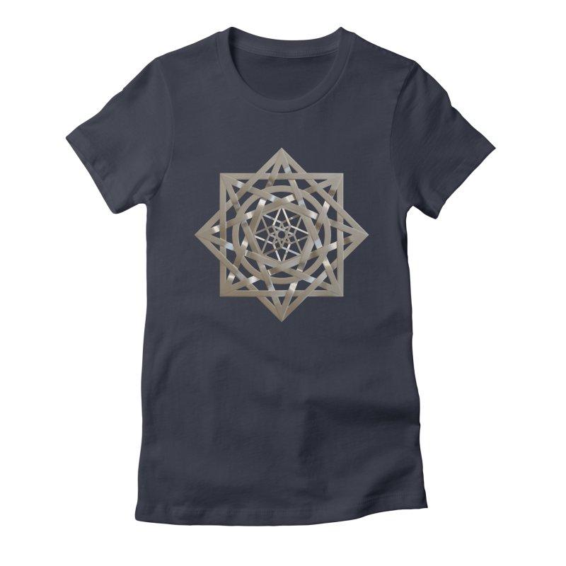 8:8 Tesseract Stargate Silver Women's Fitted T-Shirt by diamondheart's Artist Shop