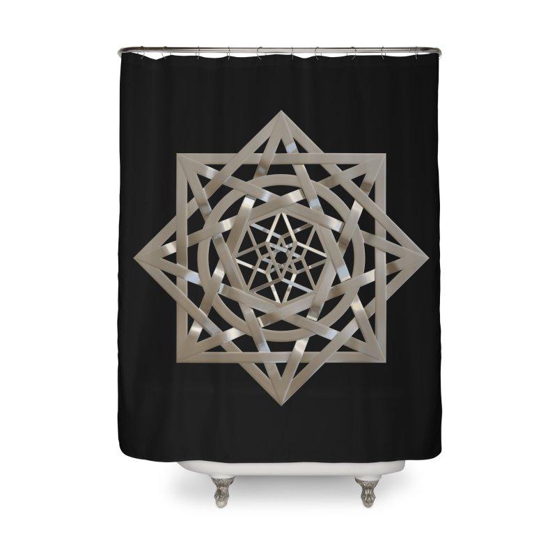 8:8 Tesseract Stargate Silver Home Shower Curtain by diamondheart's Artist Shop