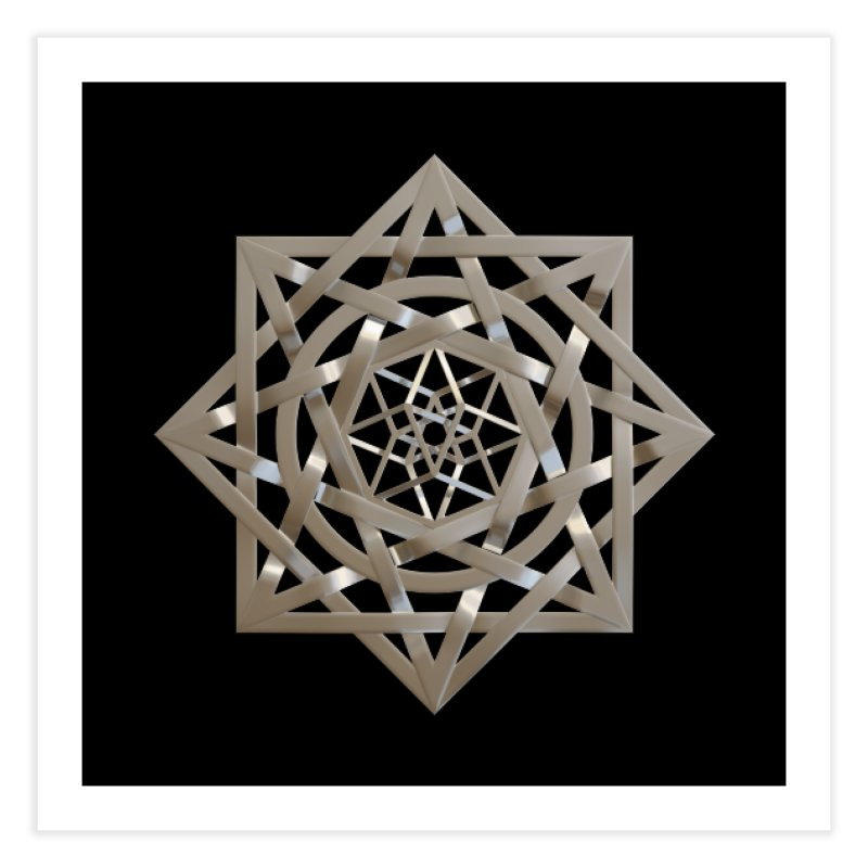 8:8 Tesseract Stargate Silver Home Fine Art Print by diamondheart's Artist Shop