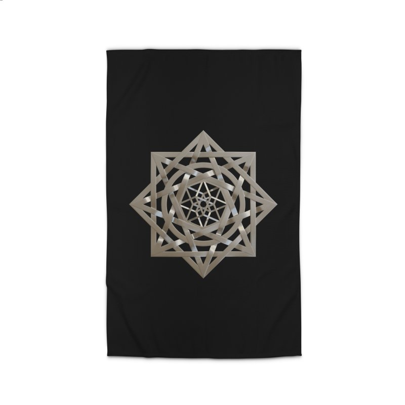 8:8 Tesseract Stargate Silver Home Rug by diamondheart's Artist Shop